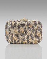 Judith Leiber | Multicolor Leopard-print Fine Crystal-embellished Clutch | Lyst