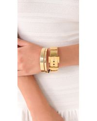 Juicy Couture - Metallic Wide Buckle Bangle - Lyst