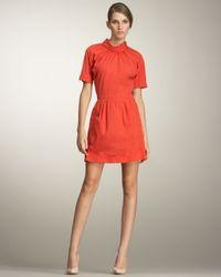 Nina Ricci | Orange Cotton Poplin Dress | Lyst