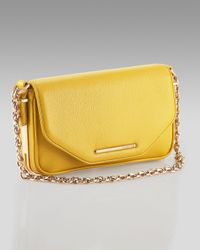 Rachel Zoe | Yellow Charlotte Leather Clutch | Lyst