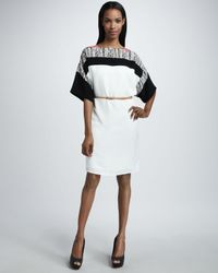 Sachin & Babi | White Janice Off-The-Shoulder Shift Dress | Lyst