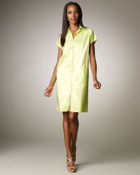 Shamask | Green Taffeta Shirtdress | Lyst