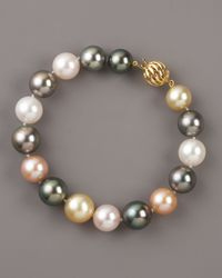 Assael | Gray Mixed-pearl Bracelet | Lyst