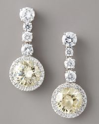 Fantasia by Deserio - White Canary-drop Earrings - Lyst