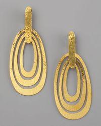 Herve Van Der Straeten | Metallic Triple-ellipse Clip Earrings | Lyst