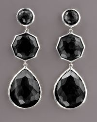 Ippolita | Black Triple-drop Earrings, Onyx | Lyst
