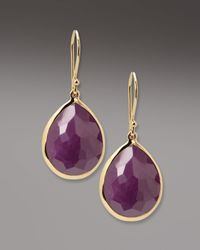 Ippolita | Purple Ruby Teardrop Earrings | Lyst