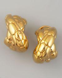 John Hardy - Metallic Kali Gold Overlap Earrings - Lyst