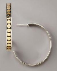 John Hardy | Metallic Dot Hoop Earrings | Lyst