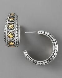 John Hardy - Metallic Naga Wide Hoop Earrings - Lyst