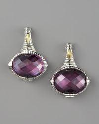 Judith Ripka - Pink Corundum Doublet Drop Earrings - Lyst
