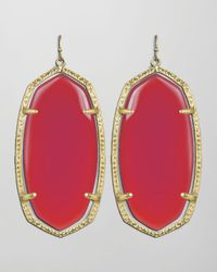 Kendra Scott | Elle Earrings Pink Agate | Lyst