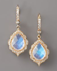 Penny Preville | Metallic Moonstone & Diamond Drop Earrings | Lyst