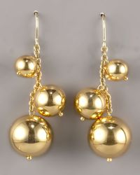 Roberto Coin | Metallic Ball Drop Earrings | Lyst