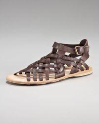 Alexander McQueen - Brown Woven-strap Sandal for Men - Lyst