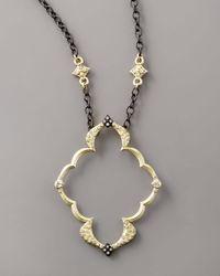 Armenta - Metallic Openframe Pendant Necklace - Lyst