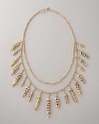 Aurelie Bidermann | Metallic Double-strand Wheat Necklace | Lyst