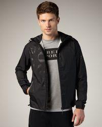 Burberry Sport | Black Hooded Logo Jacket for Men | Lyst