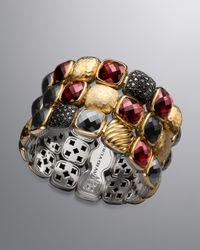 David Yurman | Multicolor Chiclet Three-row Bracelet | Lyst