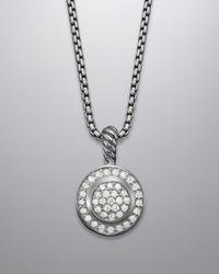David Yurman - Metallic 8mm Pave Albion Petite Round Necklace - Lyst