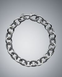 David Yurman | Metallic Medium Oval Link Chain Bracelet | Lyst