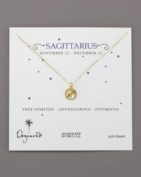 Dogeared | Metallic Sagittarius Zodiac Necklace | Lyst