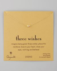 Dogeared | Metallic Three Wishes Pendant Necklace | Lyst