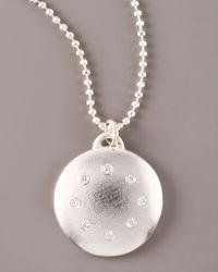 Dominique Cohen - Metallic Multi-diamond Disc Necklace, Large - Lyst