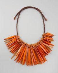 Donna Karan | Orange Small Cluster Necklace | Lyst
