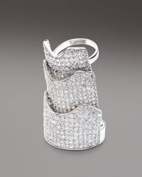 Eddie Borgo | Metallic Pave Crystal Hinge Ring | Lyst