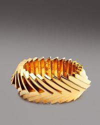 Eddie Borgo - Metallic Over Lapping Triangle Bracelet - Lyst