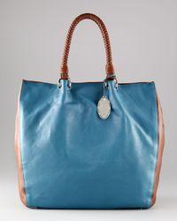 Elie Tahari | Blue Samara Bicolor Tote | Lyst