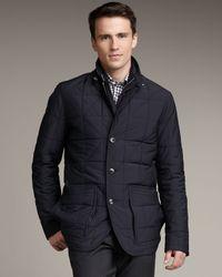 Ermenegildo Zegna | Blue Water-repellant Jacket for Men | Lyst