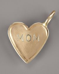 Heather Moore | Metallic Mom Heart Charm | Lyst
