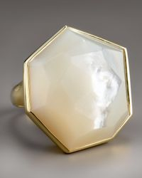 Ippolita | Metallic Large Faceted Mother-of-pearl Ring | Lyst