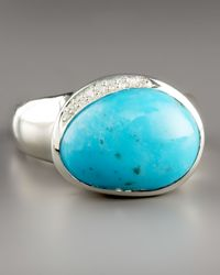 Ippolita | Blue Scultura Pebble Ring with Diamonds, Turquoise | Lyst