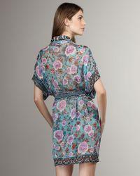 Jean Paul Gaultier | Blue Printed Silk Coverup | Lyst