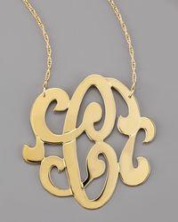 Jennifer Zeuner | Metallic Swirly Initial Necklace | Lyst