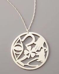 Jennifer Zeuner | Metallic Good Luck Circle Pendant Necklace | Lyst