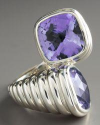 John Hardy | Metallic Bedeg Amethyst Bypass Ring | Lyst