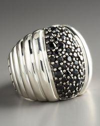 John Hardy | Bedeg Black Sapphire-center Ring | Lyst