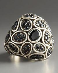 John Hardy | Black Kali Silver Dome Ring | Lyst