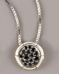 John Hardy | Metallic Bamboo Petite Black Sapphire Necklace | Lyst