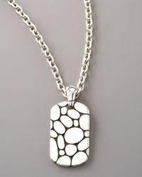 John Hardy   Metallic Kali Dog Tag Necklace for Men   Lyst