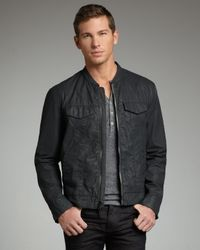 John Varvatos | Gray Water-resistant Denim Jacket for Men | Lyst