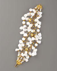 Jose & Maria Barrera - White Keshi Pearl Twist Bracelet - Lyst