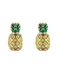 Juicy Couture - Metallic Gold Pineapple Earrings - Lyst