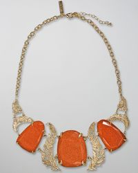 Kendra Scott - Metallic Goldstone Iggy Necklace - Lyst