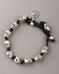 King Baby Studio | Metallic Knotted Skull Bracelet for Men | Lyst