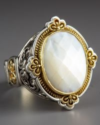 Konstantino | Metallic Oval Mother Of Pearl Ring | Lyst